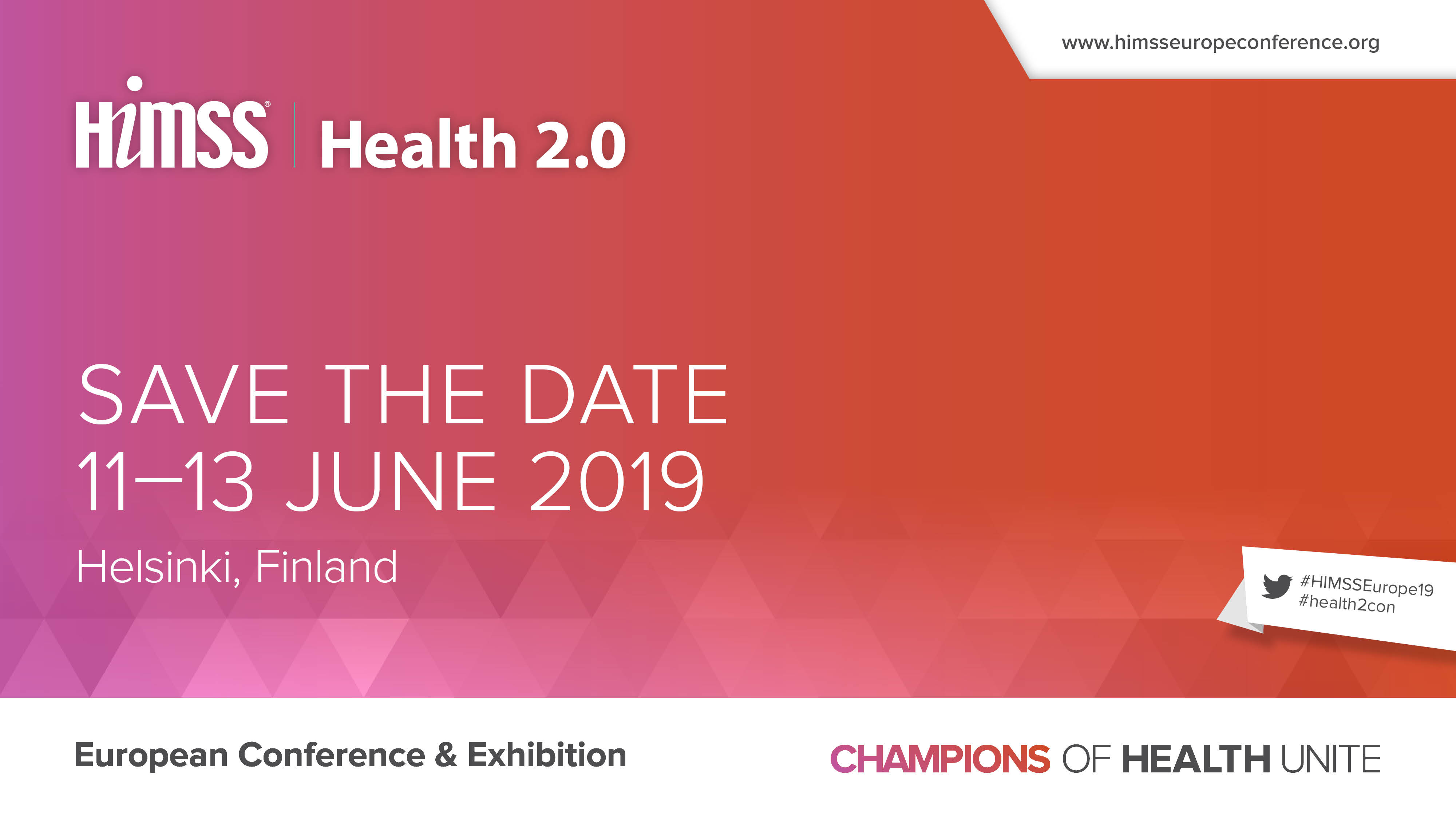 HIMSS AND HEALTH 2.0 EUROPEAN CONFERENCE