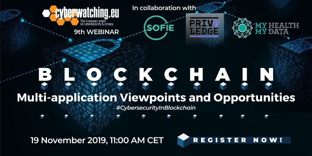 """BLOCKCHAIN: Multi-Application Viewpoints and Opportunities"" online webinar"